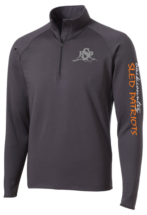 Sport-Wick® Stretch 1/2-Zip Pullover -Charcoal with Color BSP Logo