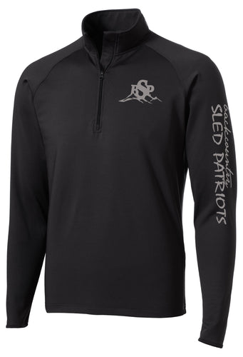 Sport-Wick® Stretch 1/2-Zip Pullover - Black with Grey BSP Logo