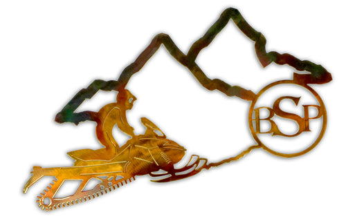 Backcountry Sled Patriots Metal artwork Outline
