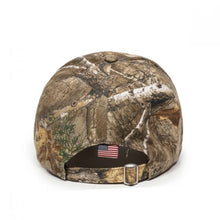 Load image into Gallery viewer, Backcountry Sled Patriots Outdoor Camp Cap with American Flag back view