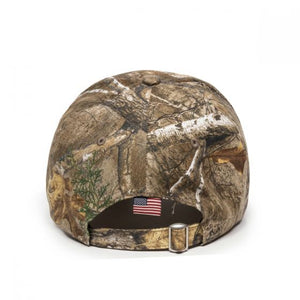Backcountry Sled Patriots Outdoor Camp Cap with American Flag back view