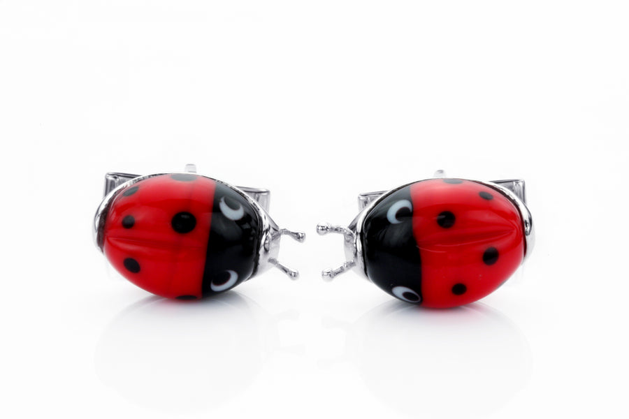 Lady Love Bug Cufflinks