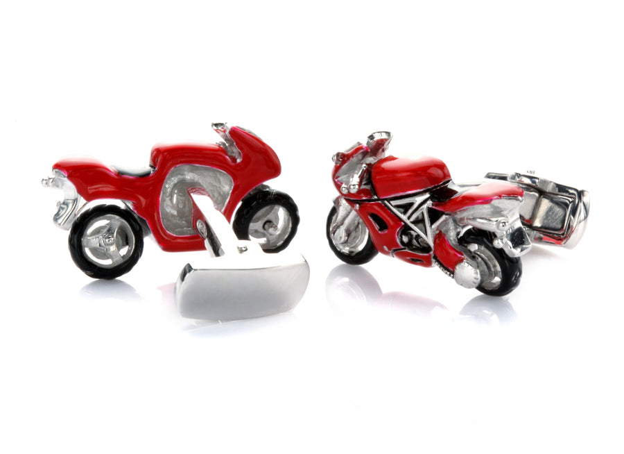Red Sport-Bike Cufflinks