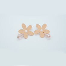 Load image into Gallery viewer, Korean Coral Flower Dangle Drop Earrings - The Gem Cutter