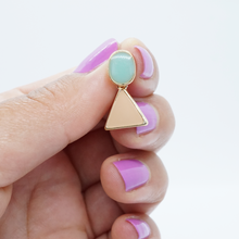 Load image into Gallery viewer, Korean Pink and Blue Acrylic Dangle Drop Earrings - The Gem Cutter