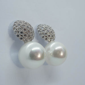 Silver Pearl Stud Wedding Earrings - The Gem Cutter