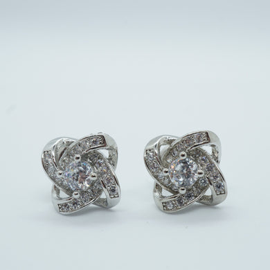 Silver Zirconia Crystal Stud Earrings - The Gem Cutter