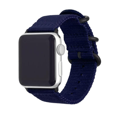 blue nylon apple watch band