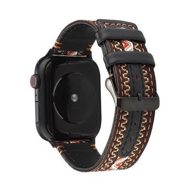 Nylon Weave Leather Apple Watch Bands