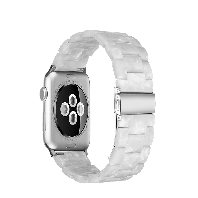 Ivory White Resin Apple Watch Band