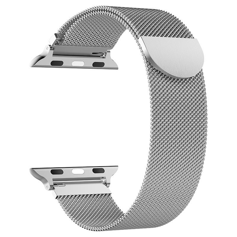 Silver Milanese Loop Apple Watch Band