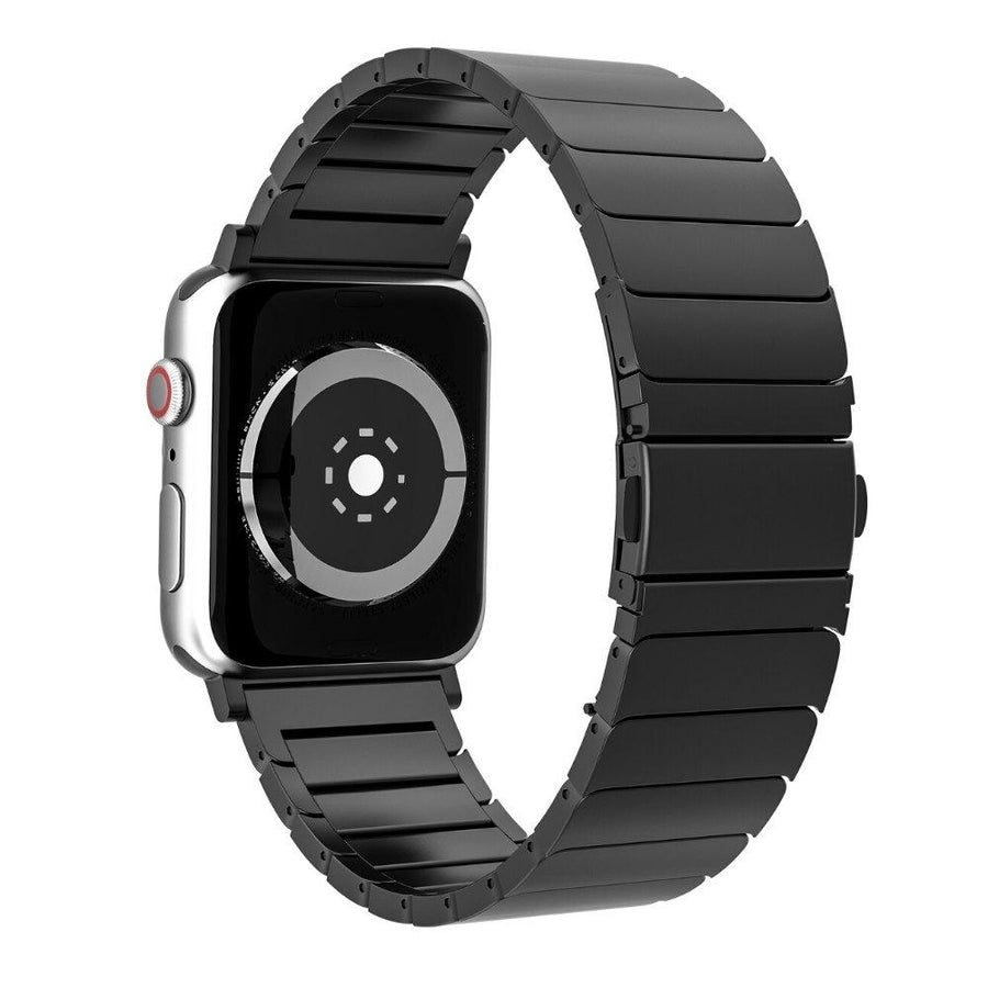black stainless steel apple watch bands