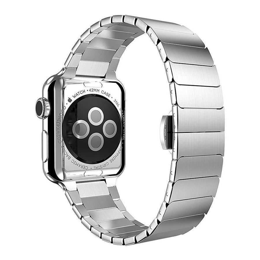 Silver Classic Stainless Steel Link Apple Watch Band