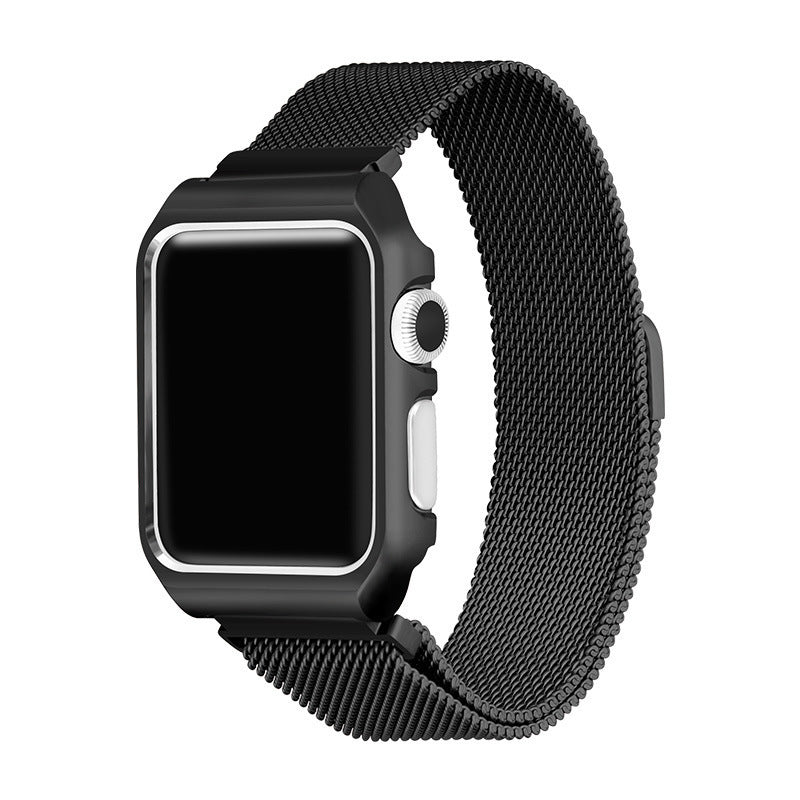 Black Milanese Loop Apple Watch Bands with Case