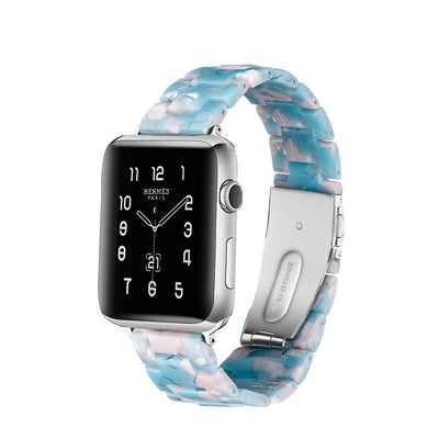 Elegant Blue Resin Apple Watch Band