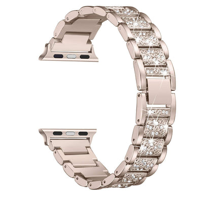 Apple Watch Bands for Women | Stainless Steel Link With Rhinestone | iBXYwatchbands