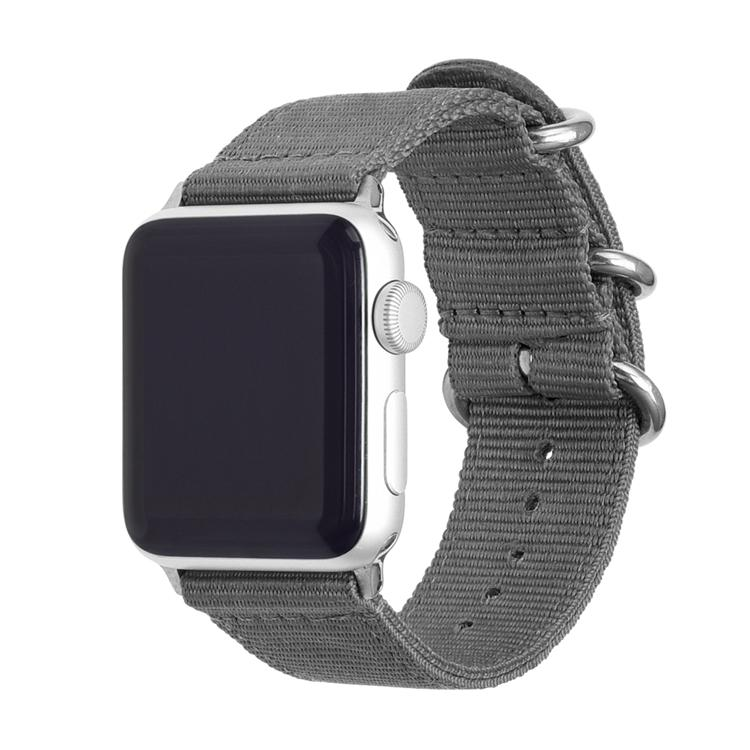 Rugged Nylon Apple Watch Bands | Silver Hardware