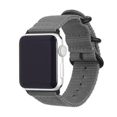 grey nylon apple watch band