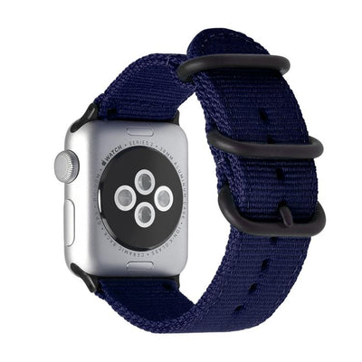Nylon Apple Watch Bands | Black Hardware