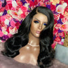 Affordable Body Wave Fake Scalp 13*6 Lace Front Black Wigs Single Knot 150%Density Lace Wigs With Full End On Sale