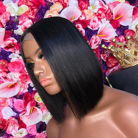 Shy Hair New Arrival Wholesale Brazilian Hair 13*6 Lace Front Bob Wigs For Black Women With Adjustable Elastic Band
