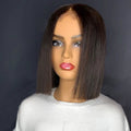 Real Looking Brazilian Hair 10 Inches Short Bob Style Lace Front Wigs Undetectable Lace With Bleached Knots