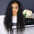 Natura Looking Black Brazilian Curly Human Hair Wigs Part Anywhere With Side Parting For African American On Sale