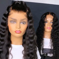 Good Quality Deep Wave 13*6 Lace Front Wigs Cheap Brazilian Human Hair Black Wigs For African American Women