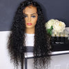 Glueless Long Brazilian Curly Lace Front Wig Single Knot Human Hair Wigs With Bleached Knots