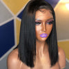 Wholesale Part Anywhere Silk Straight Bob Cut Human Hair Glueless Lace Front Wigs With Invisible Lace For Black Women