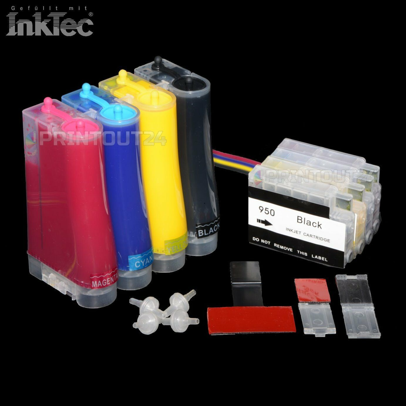 CISS InkTec® Tinte ink 932XL 933XL für HP OfficeJet Pro 6100 6600 6700 7510 7512
