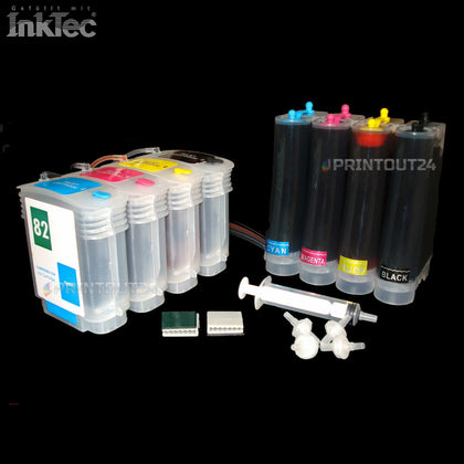 CISS ink  für HP 82XL 82 DesignJet 510 PS Plus HPDJ510 CH336A Patrone cartridge