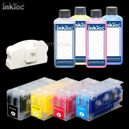 Chip Resetter Fill in CISS Patronen Tinte ink set CISS CIS für TM C3500 TM-C3500