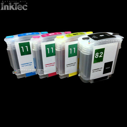 mini CISS refill cartridges befüllbare Patrone quick fill in für HP 82XL 11XL