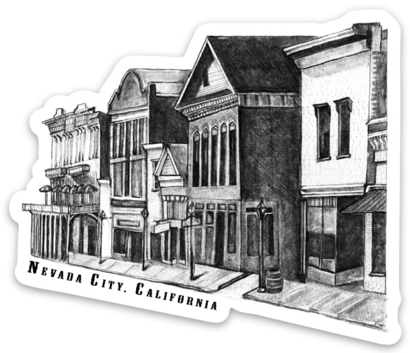 Historic Nevada City, California Sticker