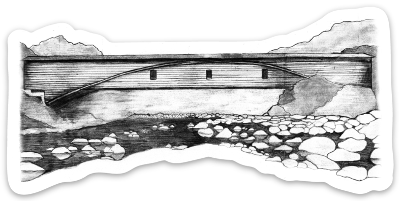 Bridgeport Covered Bridge Sticker