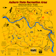 Load image into Gallery viewer, Auburn State Recreation Area BELOW Confluence Map