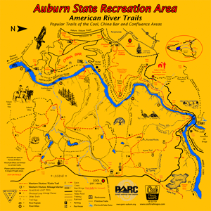 Auburn State Recreation Area BELOW Confluence Map