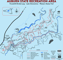Load image into Gallery viewer, Auburn State Recreation Area ABOVE Confluence Map