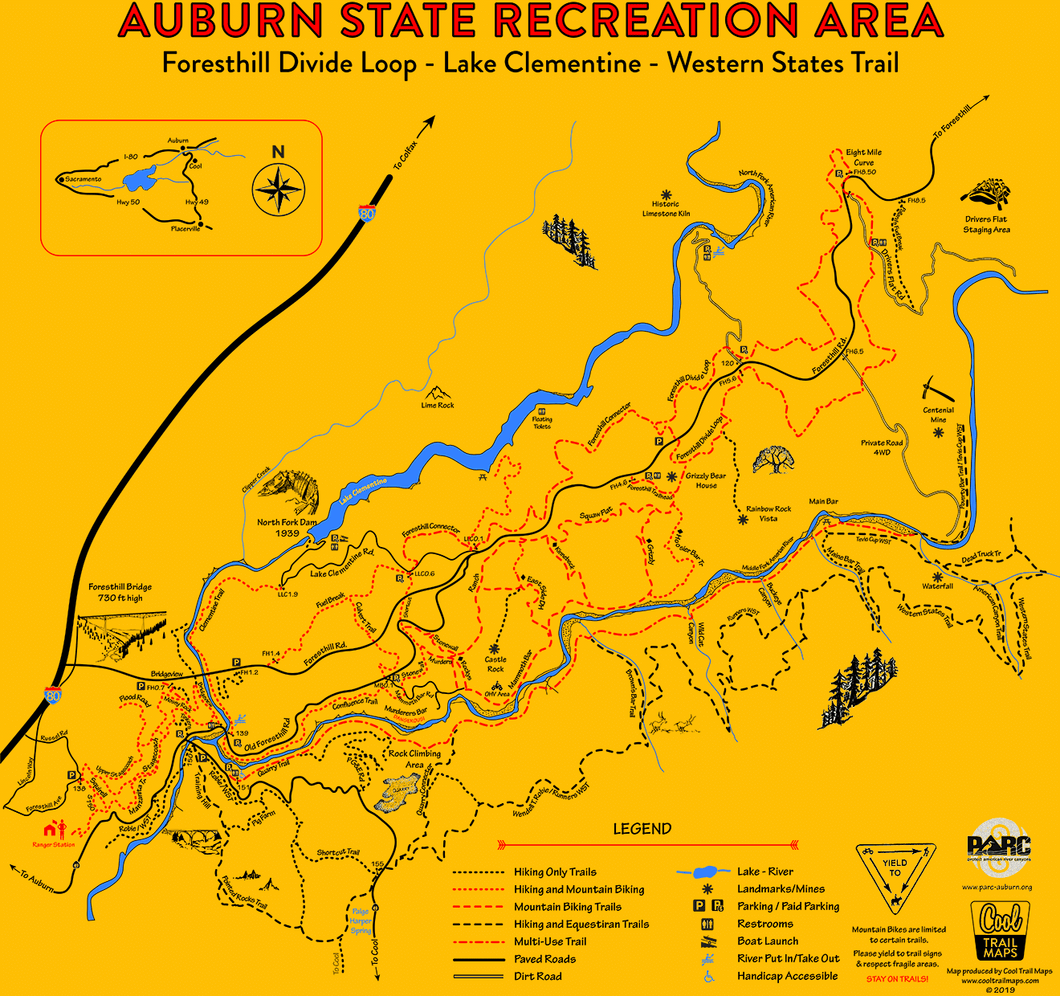 Auburn State Recreation Area ABOVE Confluence Map