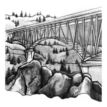 Load image into Gallery viewer, Foresthill Bridge Sticker
