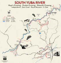 Load image into Gallery viewer, South Yuba River and Nevada City Map