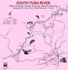 South Yuba River and Nevada City Map