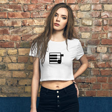 Load image into Gallery viewer, Elite Musician Tools Logo Women's Crop Tee - Elite Musician Tools