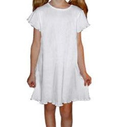 Girls Short Sleeve Ruffle Dress