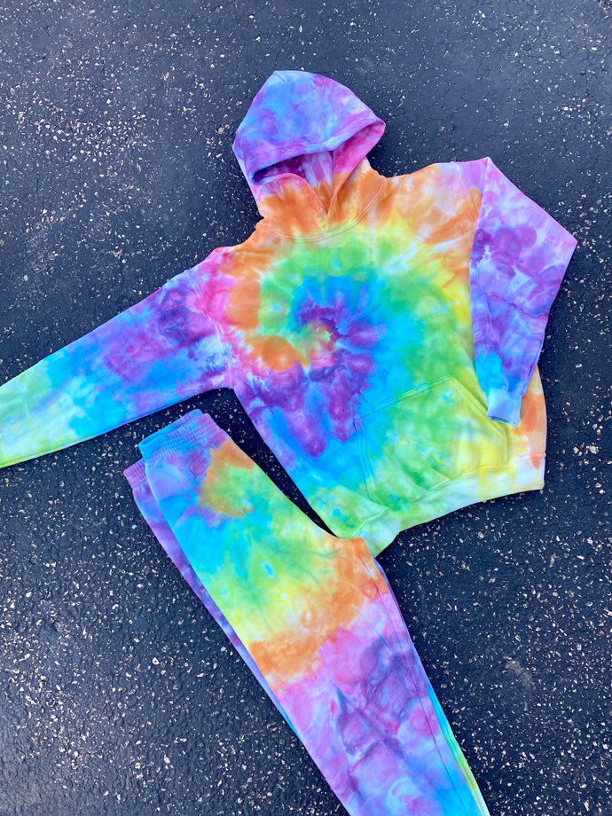 Youth Tie Dye Sweat Set