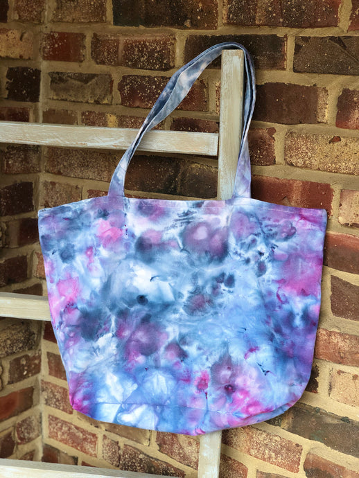 Large Zip Ice Dye Tote