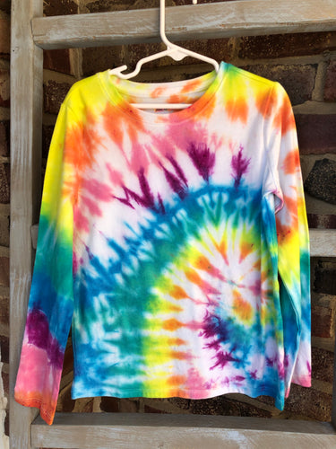 Long Sleeve Rainbow Spiral T
