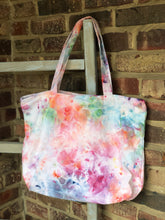 Load image into Gallery viewer, Large Zip Ice Dye Tote