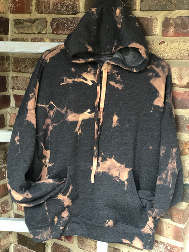 Adult Reverse Dye Heather Grey Hoodie